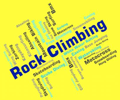 Free Stock Photo of Rock Climbing Represents Extreme Climber And Rock-Climbing