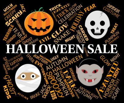 Free Stock Photo of Halloween Sale Represents Trick Or Treat And Celebration