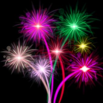 Free Stock Photo of Fireworks Color Represents Explosion Background And Celebrate