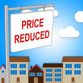 Free Stock Photo of House Price Reduced Means Properties Offer And Bungalow