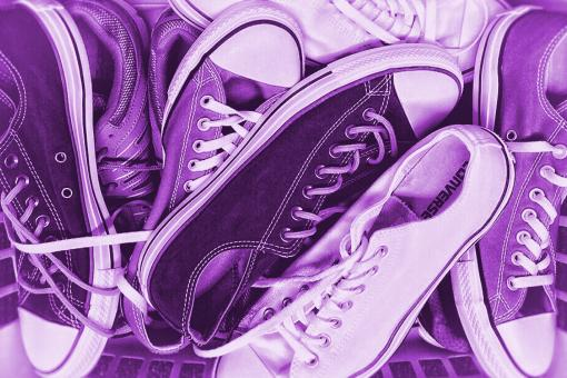 Free Stock Photo of Colorized Sneakers - Old Sneakers