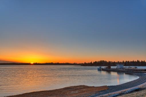 Free Stock Photo of Orwell River Sunset - HDR