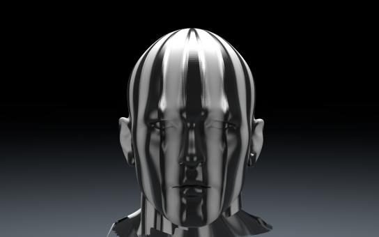 Free Stock Photo of 3D Sculpture of Man's Head