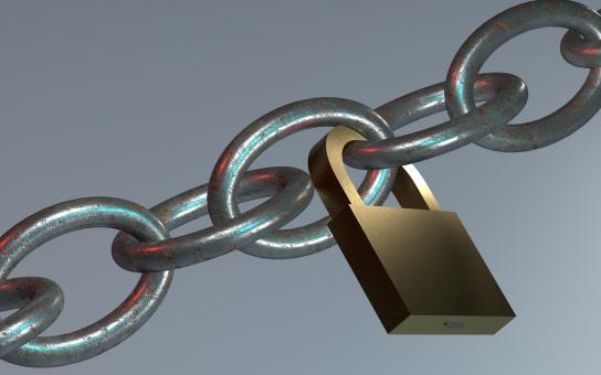 Free Stock Photo of Chain and Lock