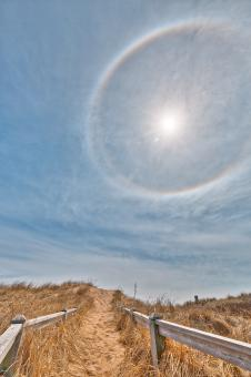 Free Stock Photo of Sun Halo Beach - HDR