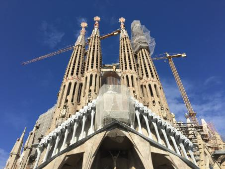 Free Stock Photo of Sagrada Familia - Barcelona, Spain