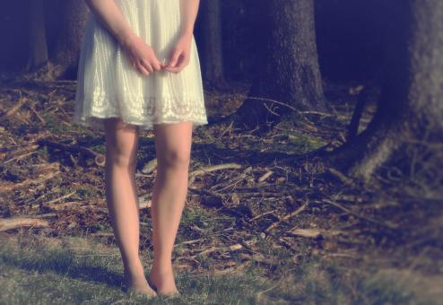Free Stock Photo of Close Up of Girls Legs in the Forest