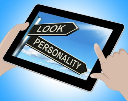 Free Stock Photo of Look Personality Tablet Shows Appearance And Character