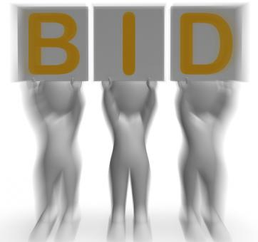 Free Stock Photo of Bid Placards Shows Auction Bidder And Auctioning