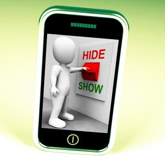 Free Stock Photo of Show Hide Switch Means Conceal or Reveal
