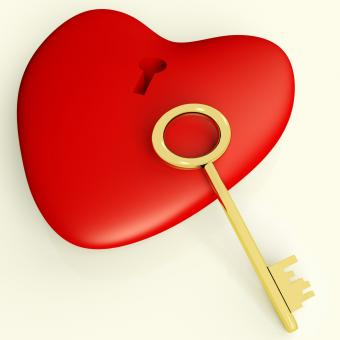 Free Stock Photo of Heart With Key Showing Love and Romance