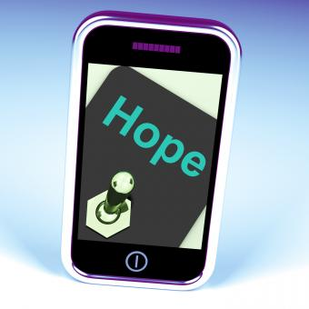 Free Stock Photo of Hope Switch Phone Shows Wishing Hoping Wanting