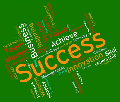 Free Stock Photo of Success Words Represents Text Victor And Progress