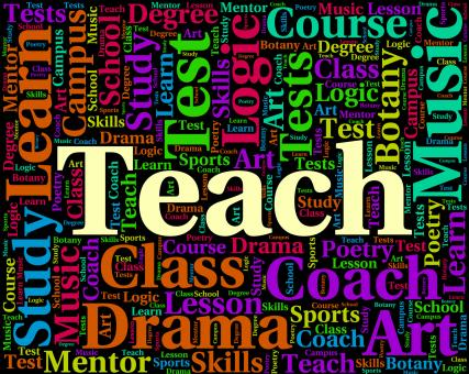 Free Stock Photo of Teach Word Indicates Give Lessons And Coaching