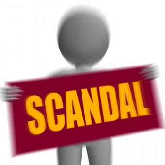 Free Stock Photo of Scandal Sign Character Displays Publicized Incident Or Uncovered Fraud