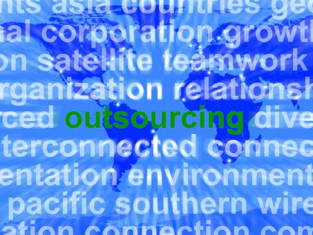 Free Stock Photo of Outsourcing Word Meaning Subcontracting Offshoring Or Freelance