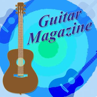 Free Stock Photo of Guitar Magazine Indicates Guitars Magazines And Rock