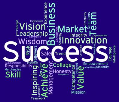 Free Stock Photo of Success Wordcloud