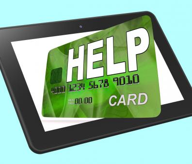 Free Stock Photo of Help Bank Card Calculated Shows Financial Support And Giving