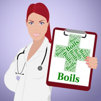 Free Stock Photo of Boils Word Means Ill Health And Affliction