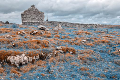 Free Stock Photo of Ancient Chapel Ruins - Nuclear Winter HDR