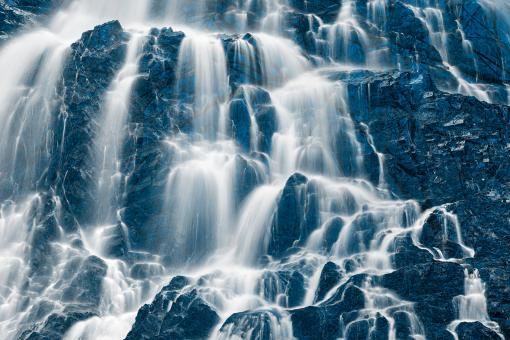 Free Stock Photo of Ice Forest Waterfall