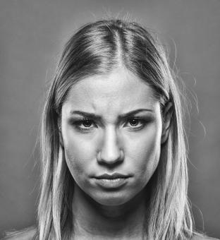 Free Stock Photo of Angry Woman Portrait