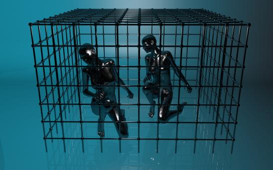 Free Stock Photo of Prison - Humans in a Cage