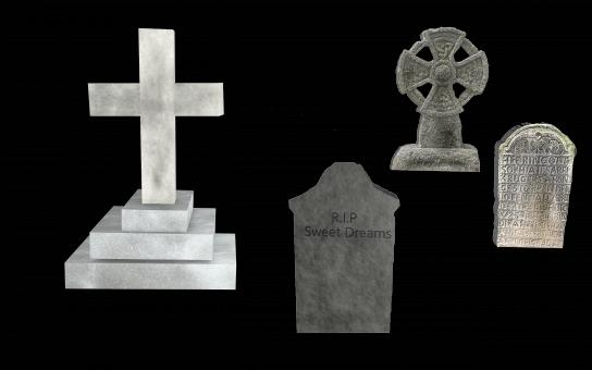 Free Stock Photo of Tombstones Set - Isolated