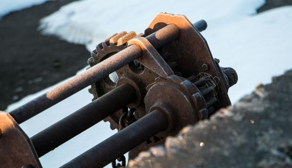 Free Stock Photo of Rusty Winch