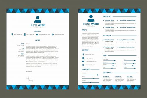 Free Stock Photo of CV Resume Template