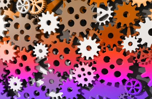 Free Stock Photo of Colorful Cogwheels