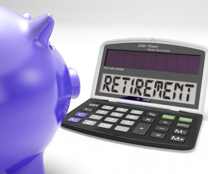 Free Stock Photo of Retirement On Calculator Shows Pensioner Retired Decision