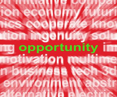 Free Stock Photo of Opportunity Word Shows Good Chance Or Favourable Circumstances