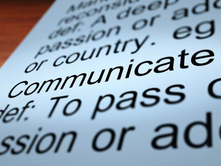 Free Stock Photo of Communicate Definition Closeup Showing Dialog