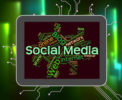 Free Stock Photo of Social Media Shows Wordcloud Word And Internet