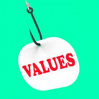 Free Stock Photo of Values On Hook Means Ethical Values Or Morality