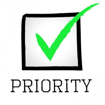 Free Stock Photo of Priority Tick Shows Correct Mark And Preference