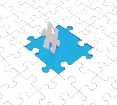 Free Stock Photo of Missing Puzzle Pieces Shows Gaps