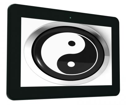 Free Stock Photo of Ying Yang Tablet Means Spiritual Peace Harmony