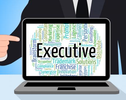 Free Stock Photo of Executive Word Represents Senior Administrator And Chairwoman