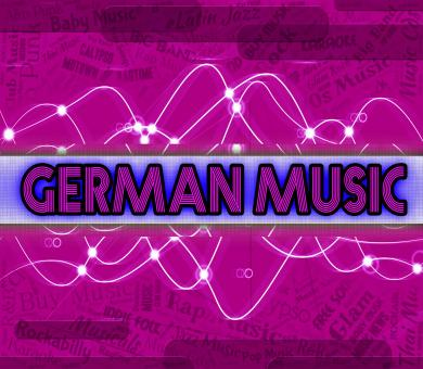 Free Stock Photo of German Music Indicates Sound Tracks And Deutsche