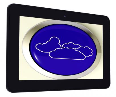 Free Stock Photo of Cloud Tablet Means Rain Rainy Weather