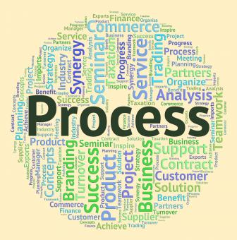 Free Stock Photo of Process Word Means Processes Task And System