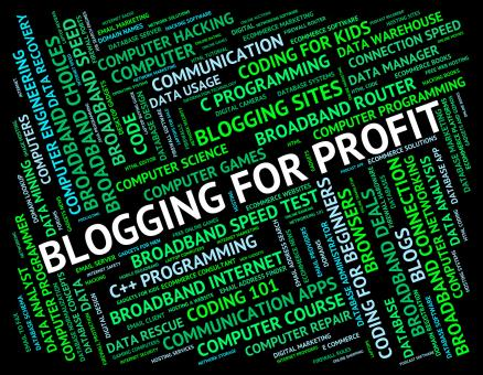 Free Stock Photo of Blogging For Profit Means Word Revenue And Growth