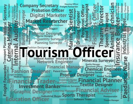 Free Stock Photo of Tourism Officer Shows Vacation Recruitment And Administrators