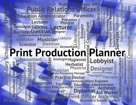 Free Stock Photo of Print Production Planner Represents Making Productions And Career