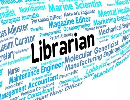 Free Stock Photo of Librarian Job Shows Text Employment And Hire