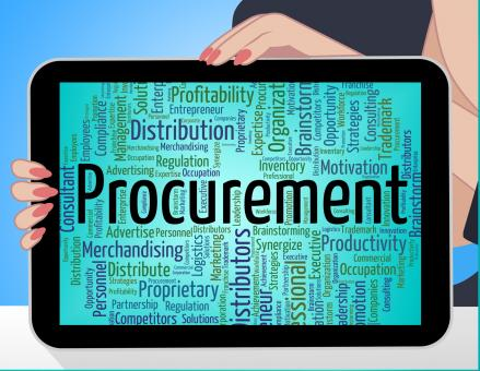 Free Stock Photo of Procurement Word Shows Text Buying And Buyers