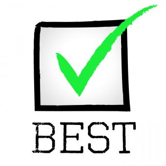 Free Stock Photo of Tick Best Represents Checkmark Unbeatable And Optimal
